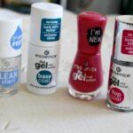 Essence the gel nailpolish, base coat, top coat en clean & start