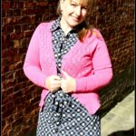 Outfit of the Day: Tante Betsy Dress Betsy Big Flower Black & Summer Cardigan Fandango Pink