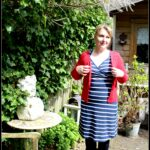 Outfit of the Day: Tante Betsy Dress Summer Cross Stripe Navy