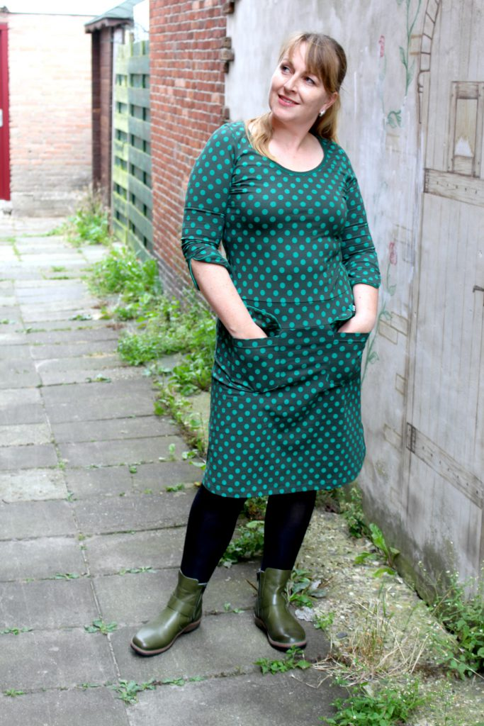Tante Betsy Dress Sue little Dot Green