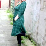 Outfit of the Day: Tante Betsy Dress Sue Little Dot Green