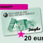 Giveaway! Win een Douglas bon twv 20 euro!