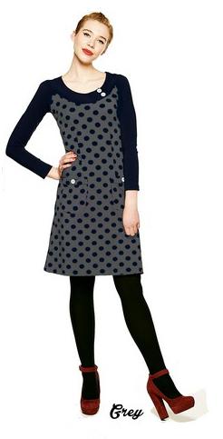 Dress Twiggy Dot Grey