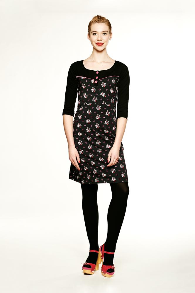 Dress Tammy Winterflower black