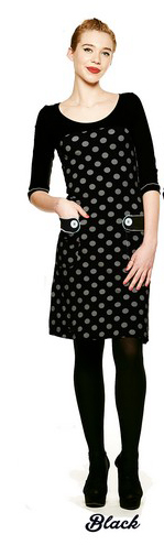 Dress Retro Go Dot Black