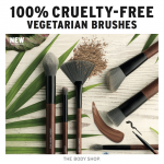 The Body Shop 100% CRUELTY-FREE VEGETARIAN BRUSHES