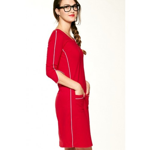 dress patsy stripe red