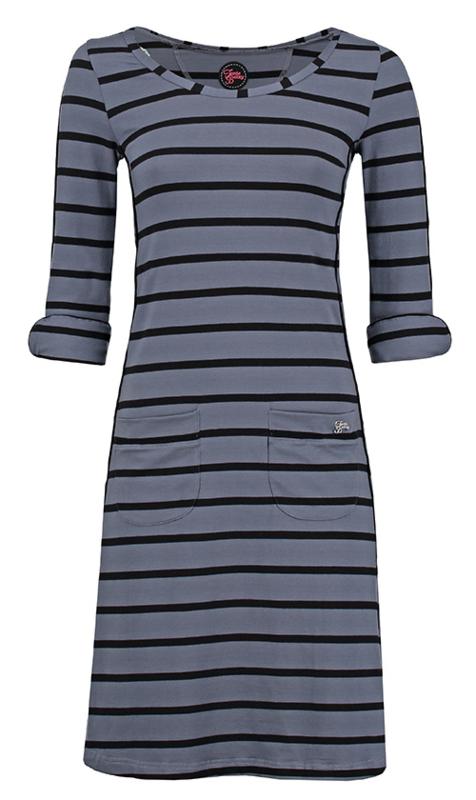 Dress Patsy Stripe Rose Grey