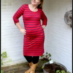 Outfit of the Day: Tante Betsy Dress Patsy Stripe Rose Red