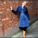 Outfit Of the Day: Tante Betsy Dress Betsy Big Flower Navy & Summer Cardigan Navy