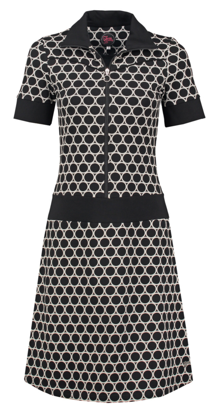 Vera Dress Circles Black