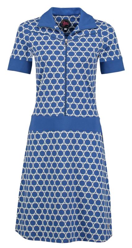 vera dress circles blue