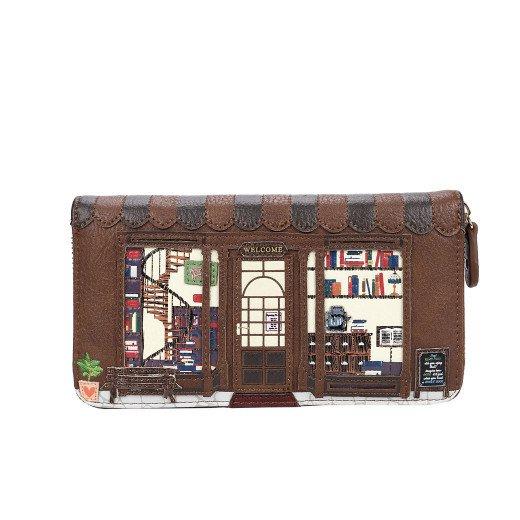 Book Shop large Ziparound Wallet - Vendula London